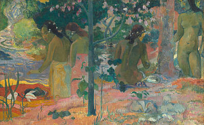 The Bathers Art Print by Paul Gaugin