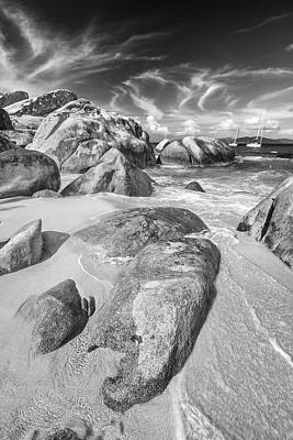 Bvi Photograph - The Baths In Black And White by Adam Romanowicz