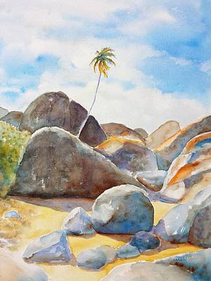 Painting - The Baths Palm Tree by Carlin Blahnik
