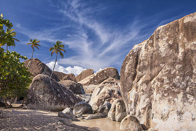 Colorful Contemporary Photograph - The Baths Virgin Gorda by Adam Romanowicz
