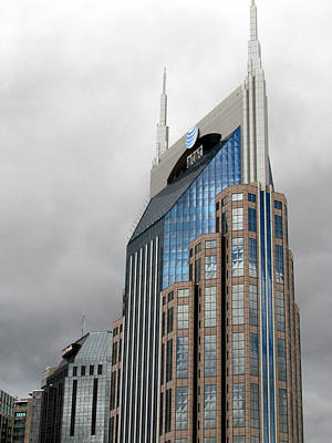 Photograph - The Batman Building Atandt Nashville by Judy Wanamaker