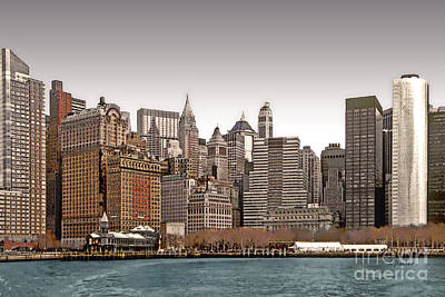 The Battery New York City Art Print by Linda  Parker