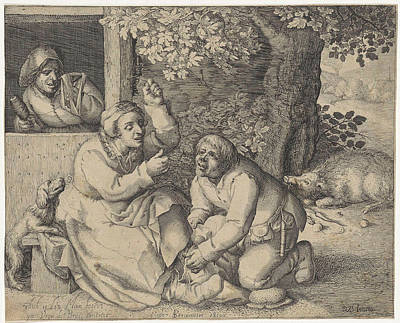The Battle For Pants, Pieter Serwouters Art Print