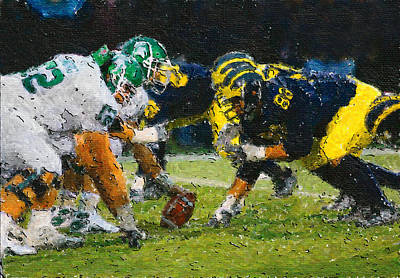 Michigan State Painting - The Battle by John Farr