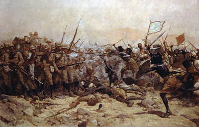 Sudan Painting - The Battle Of Abu Klea, 17th January by William Barnes Wollen