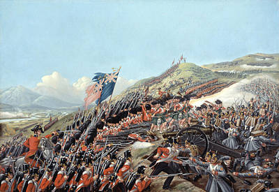 Artillery Painting - The Battle Of Alma On 20th September by Edmund Walker