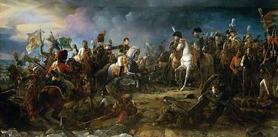 Horse Images Painting - The Battle Of Austerlitz by Baron Francois Gerard