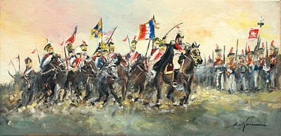 Painting - The Battle Of Austerlitz by Luke Karcz