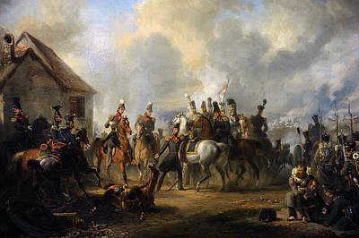 The Battle Of Bautersem During The Ten Days Campaign, 1833, By Nicolaas Pieneman 1809-1860 Art Print by Bridgeman Images