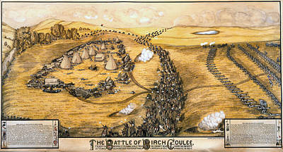 Indian Chief Digital Art - The Battle Of Birch Coulee by Paul C Biersach