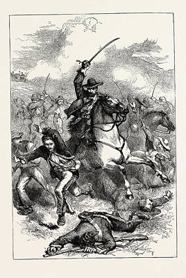 U.s Army Drawing - The Battle Of Buena Vista, Also Known As The Battle by American School