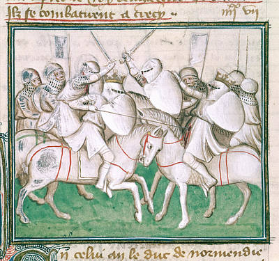 The Battle Of Crecy Art Print by British Library