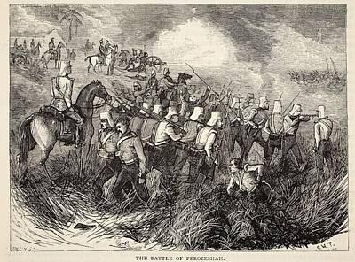 The Battle Of Ferozeshah, Illustration Art Print
