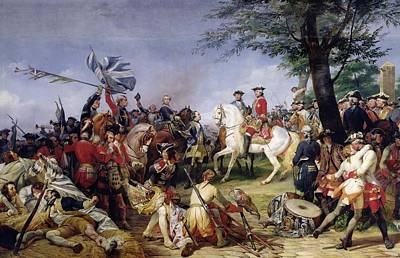 Louis Xv Photograph - The Battle Of Fontenoy, 11th May 1745, 1828 Oil On Canvas by Emile Jean Horace Vernet