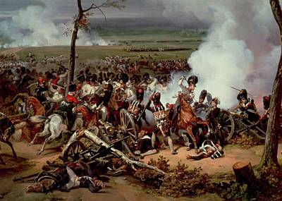 Horrors Of War Painting - The Battle Of Hanau by Emile Jean Horace Vernet