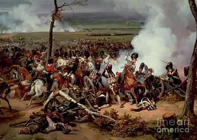 Combat Painting - The Battle Of Hanau by Emile Jean Horace Vernet