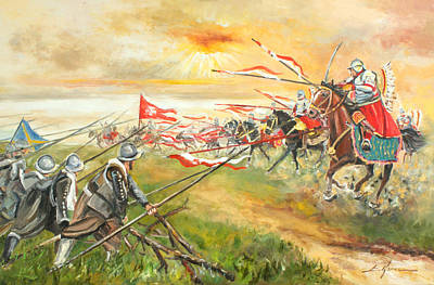 Painting - The Battle Of Kircholm by Luke Karcz