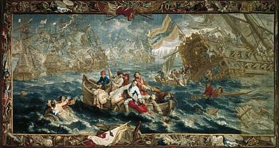 Tapestries Textiles Photograph - The Battle Of La Hogue, May 1692 by Everett