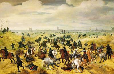 Eleven Photograph - The Battle Of Leckerbeetje, 1600 Panel Pair Of 77047 by Sebastian Vrancx