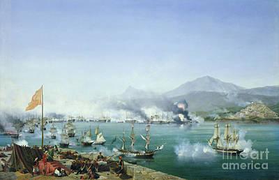 The Battle Of Navarino Art Print by Ambroise Louis Garneray