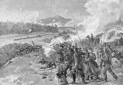The Battle Of Resaca, Georgia, May 14th 1864, Illustration From Battles And Leaders Of The Civil Art Print