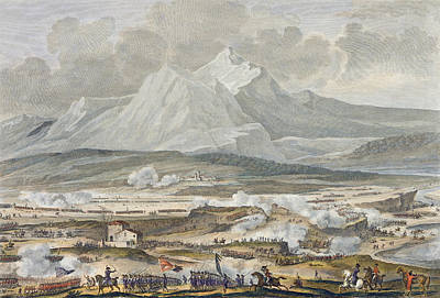 Napoleon Drawing - The Battle Of Rivoli, 25 And 26 Nivose by Antoine Charles Horace Vernet