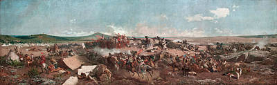 Mariano Fortuny Painting - The Battle Of Tetouan by Mariano Fortuny