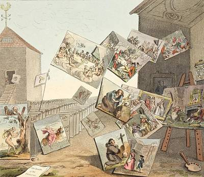 Satire Wall Art - Drawing - The Battle Of The Pictures by William Hogarth