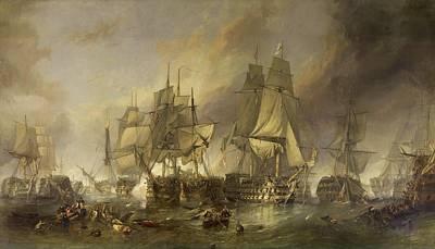 Boating Digital Art - The Battle Of Trafalgar by MotionAge Designs