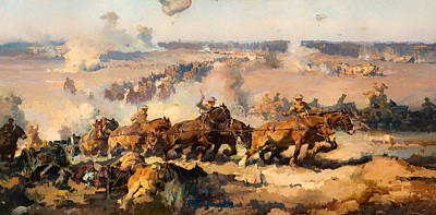 1910s Painting - The Battle Of Vitters-brettoneux 1918 by Mountain Dreams
