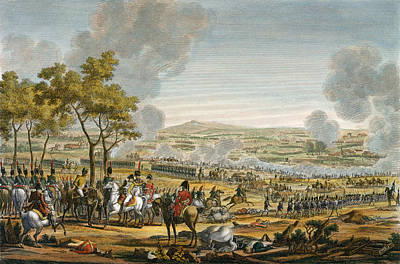Napoleon Bonaparte Drawing - The Battle Of Wagram, 7 July 1809 by Jacques Francois Joseph Swebach