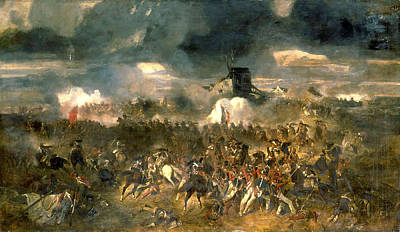 Battle Painting - The Battle Of Waterloo by Celestial Images