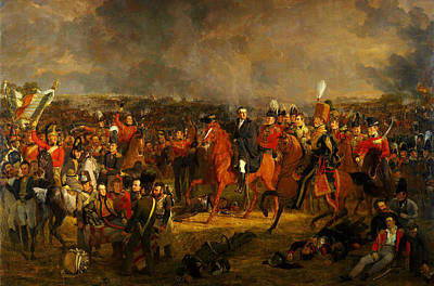 Painting - The Battle Of Waterloo by Celestial Images