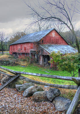 Pennsylvania Barns Digital Art - The Battles Over by Sharon Batdorf
