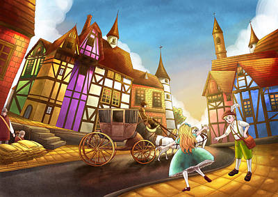 The Bavarian Village Art Print by Reynold Jay