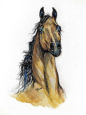 The Bay Arabian Horse 13 Original by Angel  Tarantella