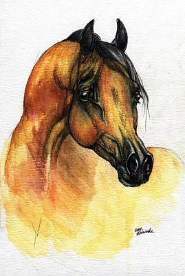 The Bay Arabian Horse 14 Original by Angel  Tarantella