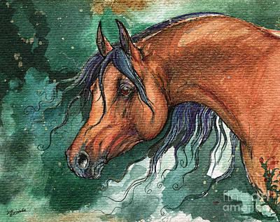 The Bay Arabian Horse 8 Original by Angel  Tarantella