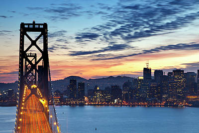 Bay Bridge Photograph - The Bay Bridge From Treasure Island by Chuck Haney