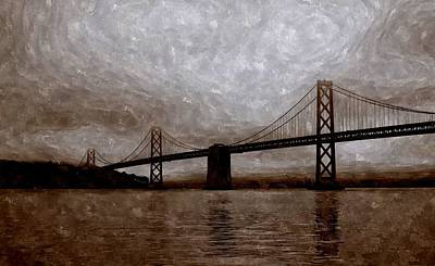 Bay Bridge Painting - The Bay Bridge Of San Francisco by Florian Rodarte