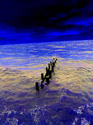 Photograph - The Bay In Blue by Kimmary MacLean