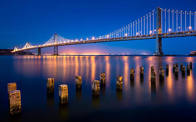 Bay Bridge Photograph - The Bay Lights by Alexis Birkill