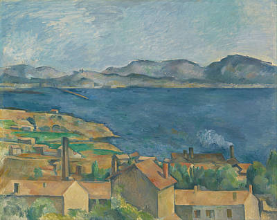 Estaque Painting - The Bay Of Marseilles Seen From L Estaque by Paul Cezanne