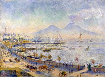 The Bay Of Naples Art Print by Pierre-Auguste Renoir