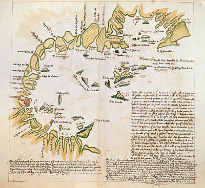 Land Feature Photograph - The Bay Of Panama by British Library