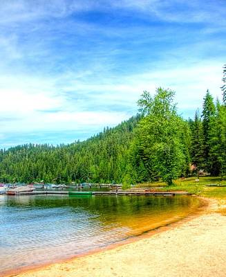 Jerry Sodorff Royalty-Free and Rights-Managed Images - The Beach at Cavanaugh Bay 6966 by Jerry Sodorff