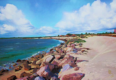 The Beach At Ponce Inlet Art Print