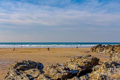 The Beach At Porthtowan Cornwall Print by Brian Roscorla