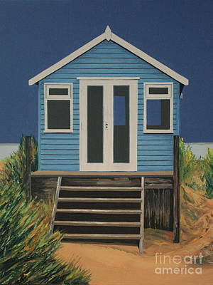 Painting - The Beach Hut by Linda Monk