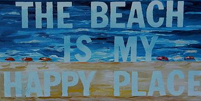 Painting - The Beach In My Happy Place Two by Patti Schermerhorn